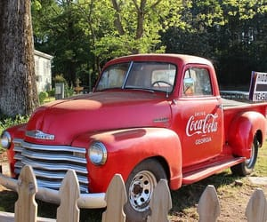 chevy, coca-cola, and vintage cars image