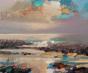 art, landscape, and oil image
