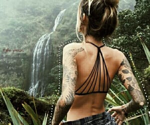 france, girl, and jungle image