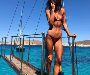 beach, fitness, and bikini image