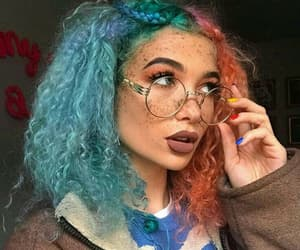 girl, beauty, and blue image