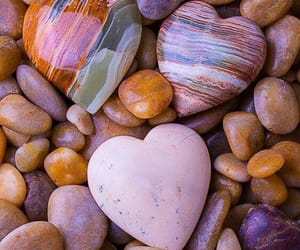 heart, beach, and stones image