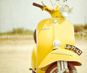 yellow, Vespa, and photography image