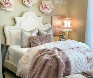 bed, pillows, and roses image