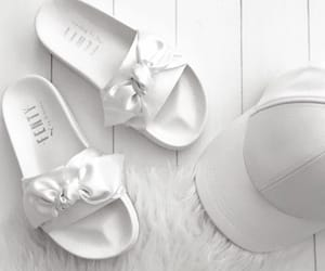white, shoes, and fenty image