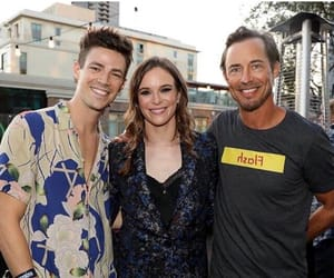 danielle panabaker, barry allen, and tom cavanagh image