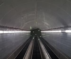 dark, subway, and underground image
