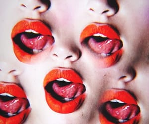 Collage, lips, and red lips image