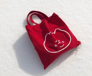 aesthetic, red, and bag image