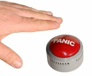 reaction, meme, and panic image