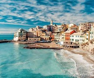 sea, italy, and beach image