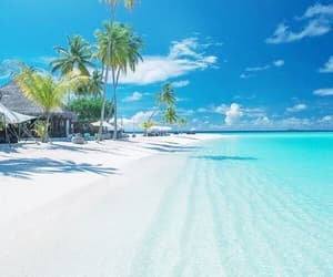 beach, Maldives, and paradise image