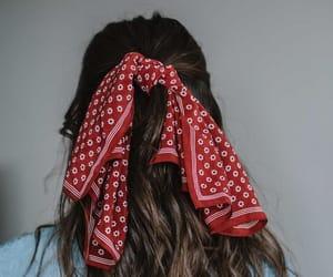 hair, hairstyle, and bandana image