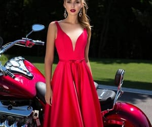dress, fashion, and evening gown image