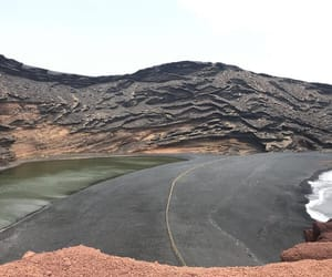 beach, holiday, and lanzarote image