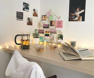 aesthetic, bedroom, and book image