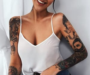 tattoo, girl, and tumblr image