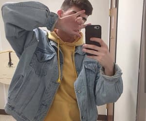 boy, hair, and phone image
