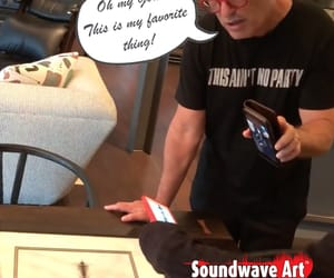 custom art, howie mandel, and soundwave art image
