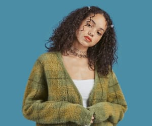 90s, blue, and curly hair image