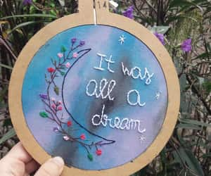 embroidery, handmade, and watercolors image