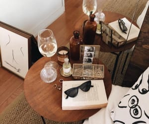 accessories, wine, and sunglasses image