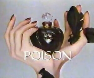 poison, perfume, and black image