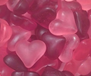 pink, candy, and heart image