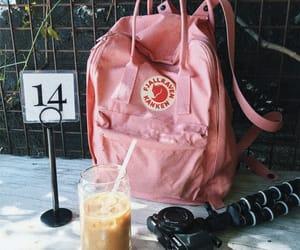 backpack, coffee, and iced coffee image