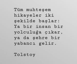 tolstoy, alıntı, and türkçe sözler image