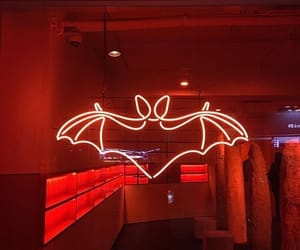 red, aesthetic, and bat image