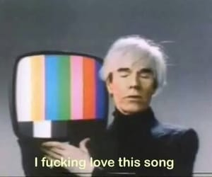 song, andy warhol, and music image