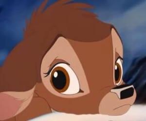bambi, disney, and sad image