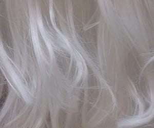 hair, soft, and white image