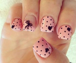 girl, pink, and nail image