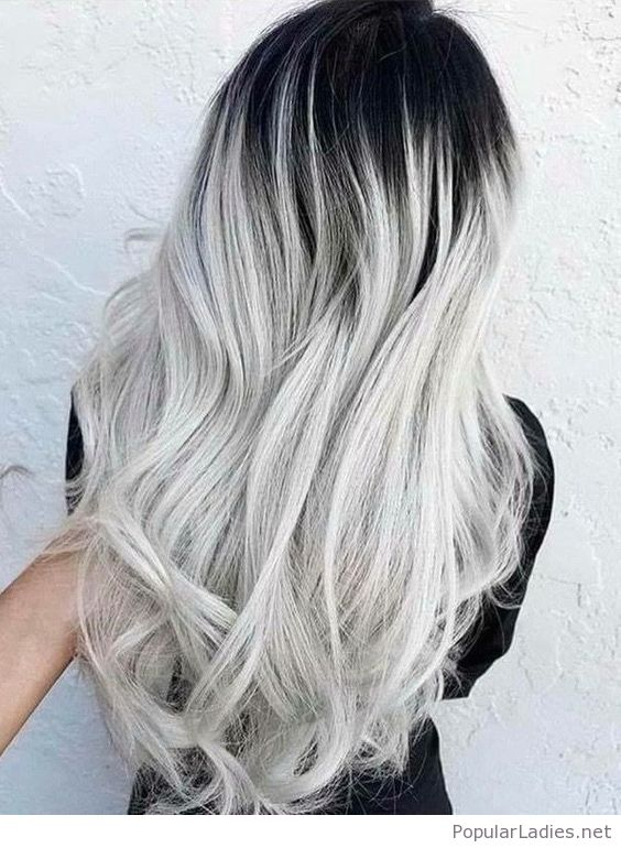 black/grey hair uploaded by b&wgal on We Heart It