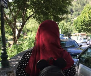 hijab, mickey, and red image