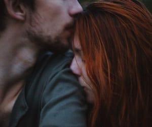 couple, kiss, and wallpaper image