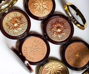 beauty, bronze, and makeup image