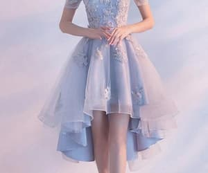 light blue prom dress, light blue prom dresses, and blue prom dress image