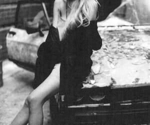 Taylor Momsen, black and white, and the pretty reckless image