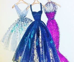 Couture, drawing, and dress image