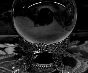 magic, crystal ball, and dark image