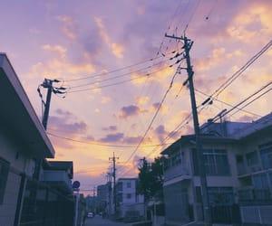 japan, purple, and sky image