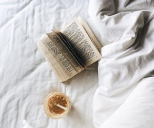 aesthetic, bed, and books image