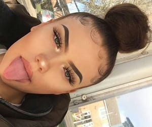 makeup and bun image