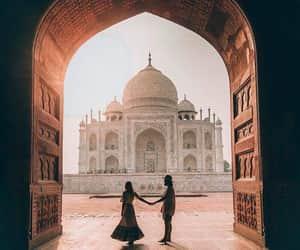 couple, together, and taj mahal image