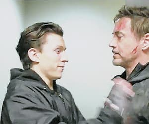 gif, robert downey jr, and tom holland image