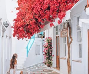 girl, Greece, and travel image