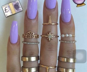 purple, nails, and lilac image